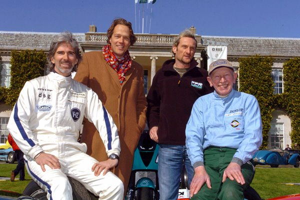 Damon Hill Lord March Carl Fogarty and John Surtees 2004