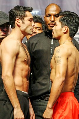 Oscar De La Hoya v Manny Pacquiao Weigh-In
