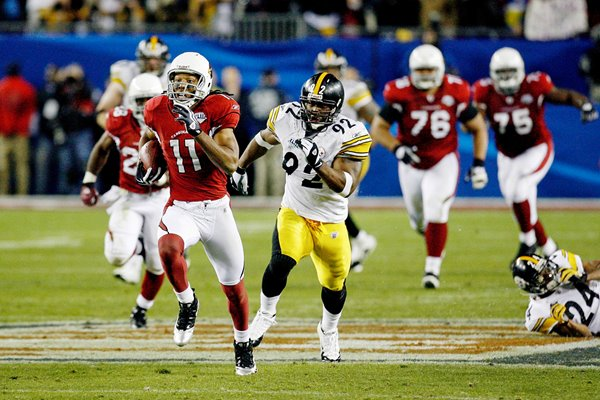 Larry Fitzgerald scores for Arizona Super Bowl XLIII