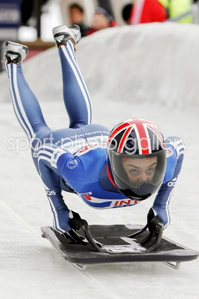 Amy Williams Skeleton Start - 2009 World Cup