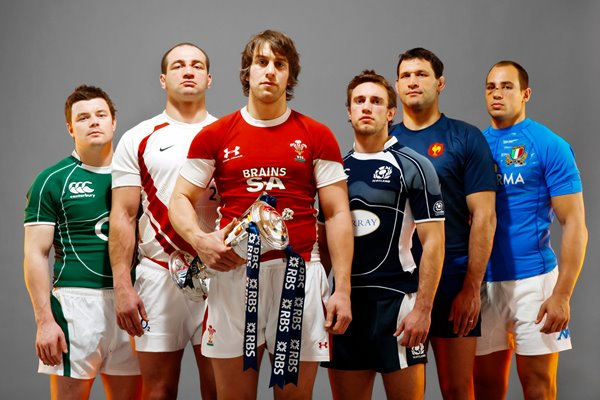 2009 Team captains at RBS 6 Nations Launch