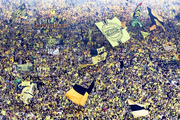 The fans of Borussia Dortmund
