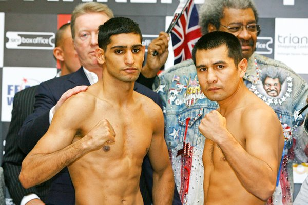 Amir Khan Marco Antonio Barrera Weigh-In