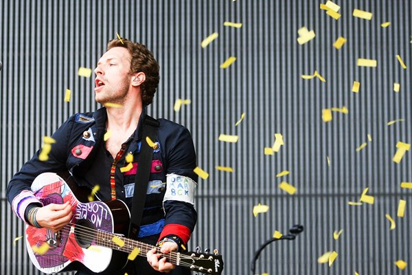 Chris Martin of Coldplay SCG Sydney 2009