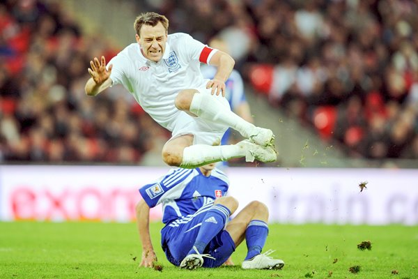 John Terry in action for England v Slovakia 2009