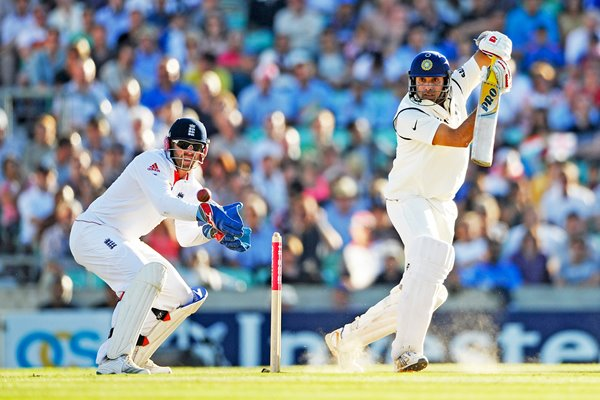 VVS Laxman India Action Oval 2011