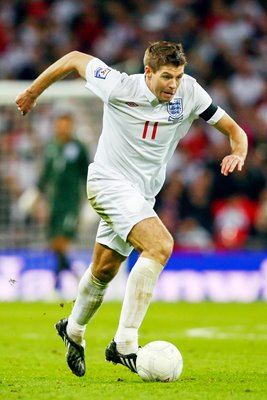 Steven Gerrard on the attack for England