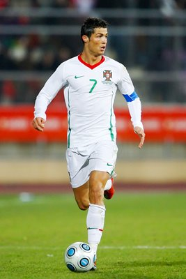Christiano Ronaldo in action for Portugal 2009