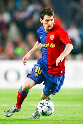 Lionel Messi in action for Barcelona 2009