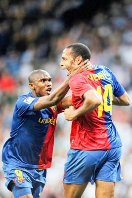 Barcelona beat Real, Henry celebrates