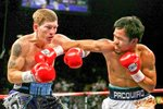 Manny Pacquiao beating Ricky Hatton 2009 Prints