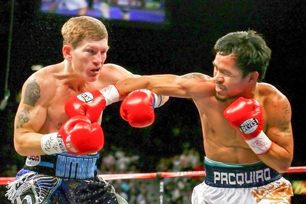 Manny Pacquiao beating Ricky Hatton 2009