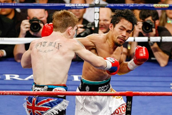 Manny Pacquiao v Ricky Hatton action