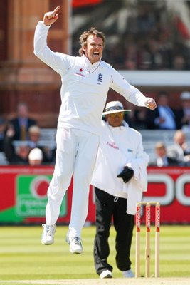 Graeme Swann celebrates England v West Indies Lords 2009