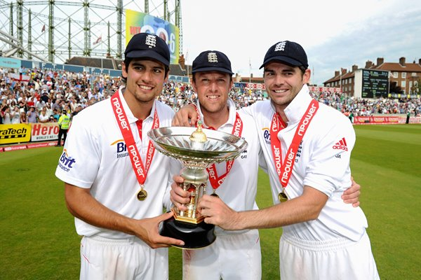 Alastair Cook, Graeme Swann & James Anderson Oval 2011