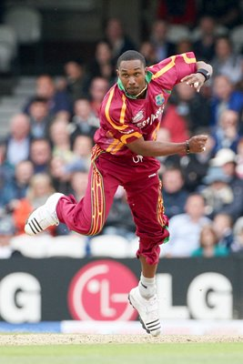 West Indies Dwayne Bravo in action