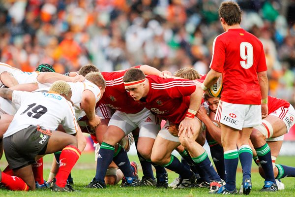 British & Irish Lions scrum v Cheetahs Bloemfontein, South Africa 2009