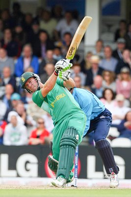 South Africa's AB DeVilliers in action