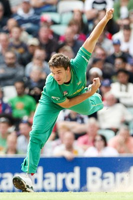 South Africa's Albie Morkel in action v Scotland
