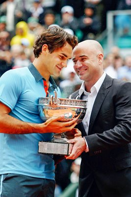 """Welcome to the Club"" Agassi and Federer"