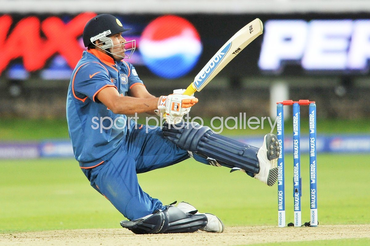 Yusuf Pathan of India in action