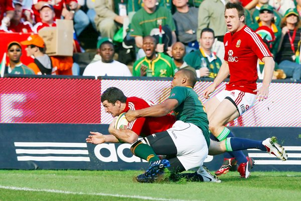 Rob Kearney British & Irish Lions scores v South Africa Pretoria 2009