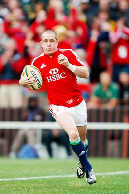 Shane Williams British & Irish Lions scores v South Africa Ellis Park 2009
