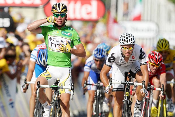 Mark Cavendish wins in green jersey 2009 Stage 3