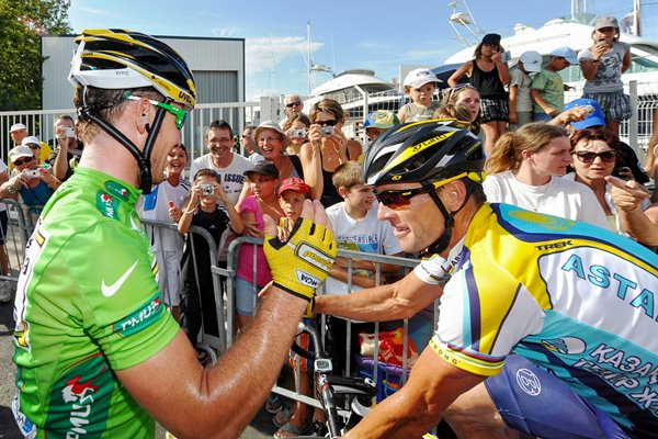 Mark Cavendish and Lance Armstrong 2009
