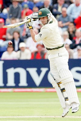 Phillip Hughes in action - Cardiff - Ashes 2009