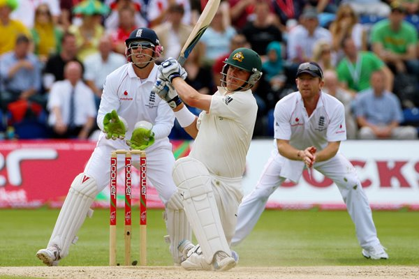 Marcus North hits out - Cardiff - Ashes 2009