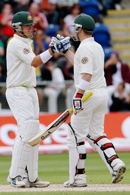 Marcus North & Brad Haddin - 1st Test - Ashes 2009