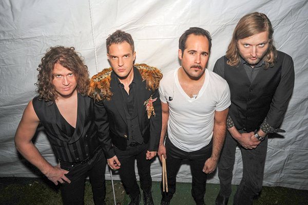 The Killers backstage