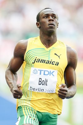 Usain Bolt Berlin action 2009
