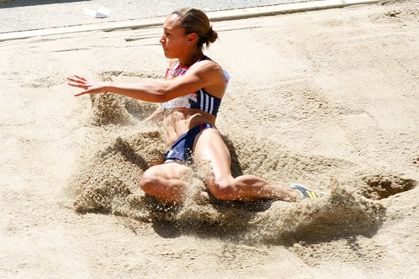 Jessica Ennis making a splash in Berlin