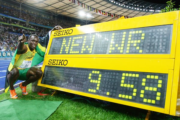 Usain Bolt breaks World 100m Record in Berlin