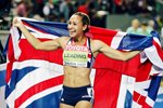 Jessica Ennis celebrates Heptathlon Gold 2009 Prints