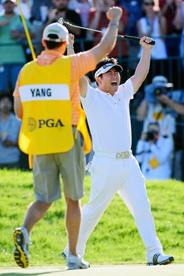 Y.E. Yang celebrates USPGA win 2009