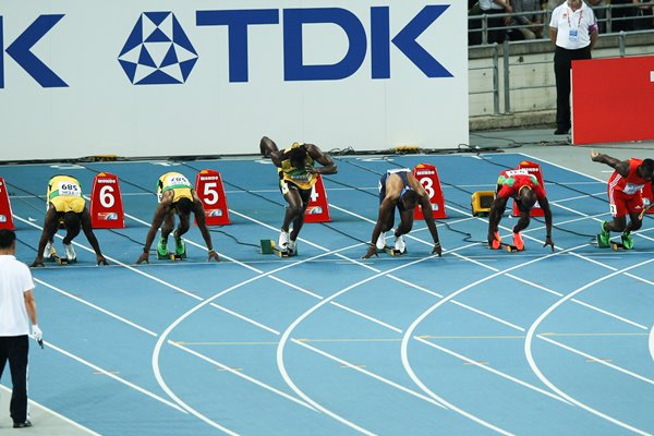 Usain Bolt False Start 100m Final 2011
