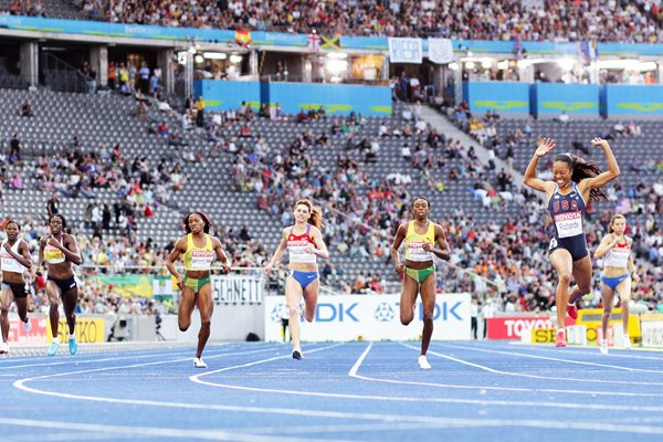 Sanya Richards 400m gold in Berlin 2009
