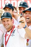 Andrew Strauss & England celebrate Ashes win Prints