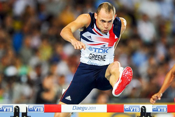 "David ""Dai"" Greene 400m hurdles - Daegu 2011"