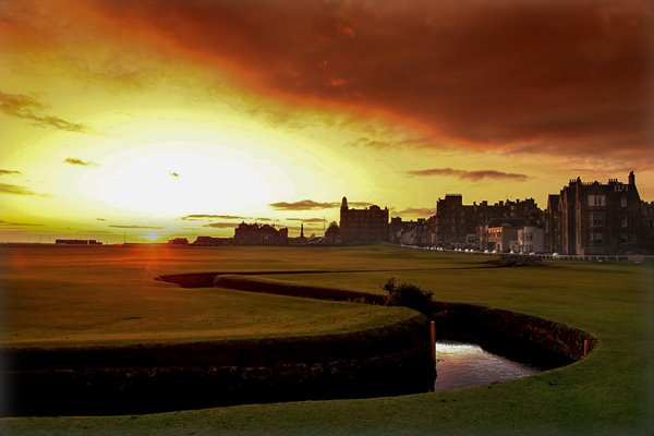 18th hole Old Course St Andrews at sunrise