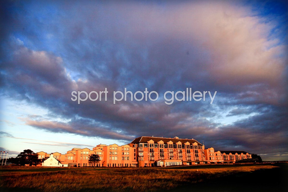 Clubhouse Old Course St Andrews at sunrise