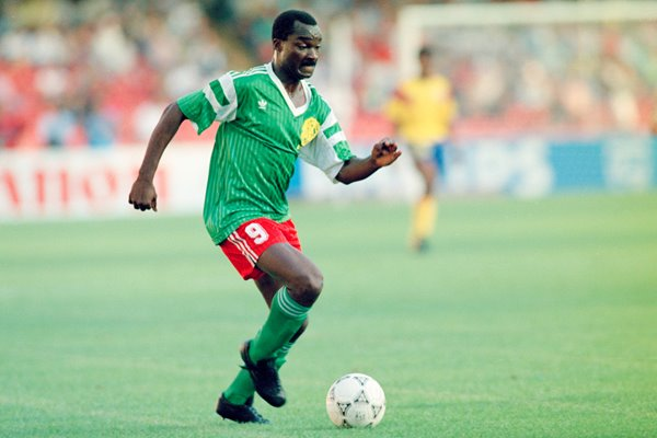 Roger Milla in action