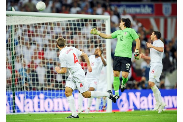 Gerrard scores for England