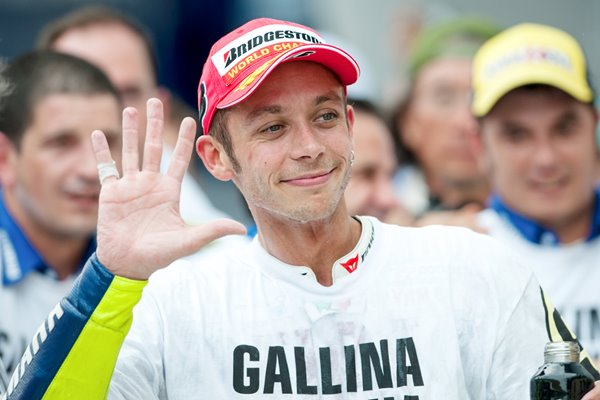 2009 Valentino Rossi celebrates 9th World Title