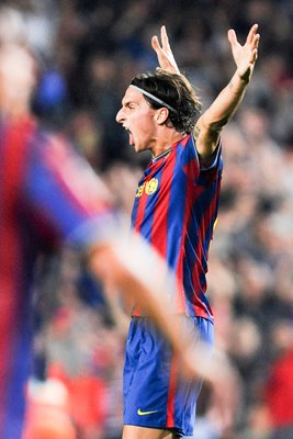 Zlatan Ibrahimovic of FC Barcelona celebrates