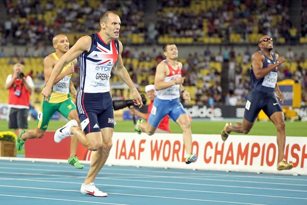 "David ""Dai"" Greene 400m hurdles Finish 2011"