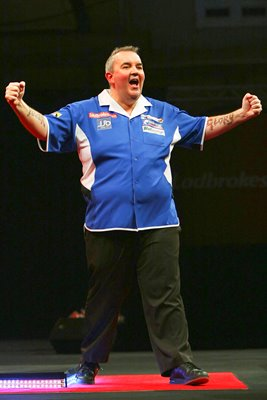 2010 World Darts Championship - Phil Taylor celebrates